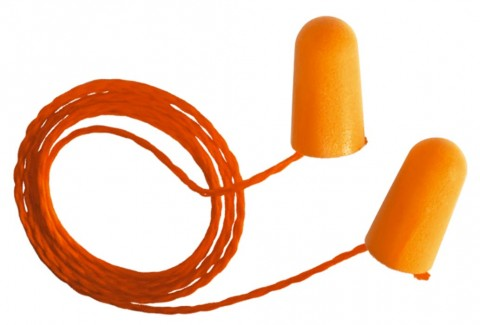 3M Hypo-allergenic Corded Disposable Earplugs 1110 (21 dB) (Class 3) - Box of 100 Pairs