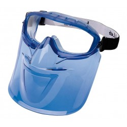 Bolle ATOM Safety Goggles with SBR Foam & Mouth Guard 1652831 (Top Vent Closed) (Prescription Capable)