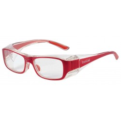 Bolle B808RS Red (52-18) (Prescription Safety Glasses Frame & Lenses Package)