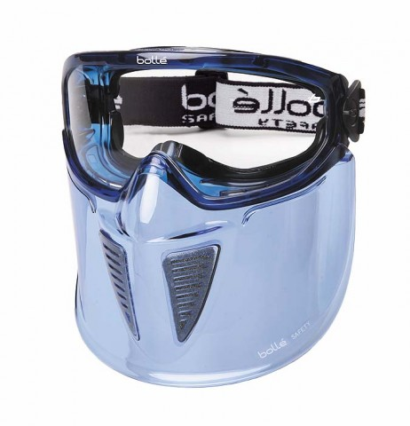 Bolle BLAST Safety Goggles 1669203 with Foam & Mouth Guard (Indirect Vents Top & Bottom) (Prescription Capable)