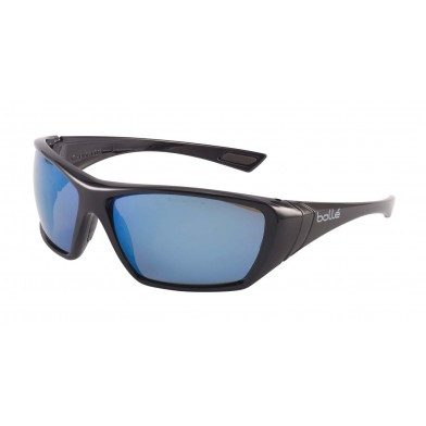 Bolle Hustler Safety Glasses with Blue Flash Polarised Lenses