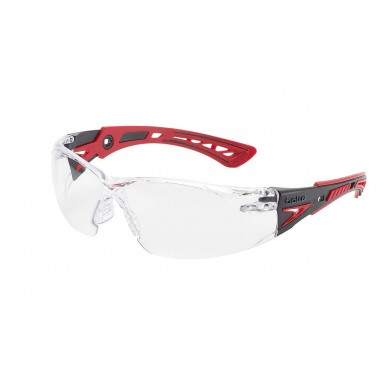 Bolle Rush Plus Safety Glasses with Clear Lenses