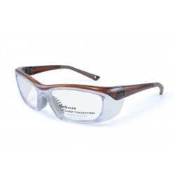 OnGuard 220 Brown (55-15) (Prescription Safety Glasses Frame & Lenses Package)