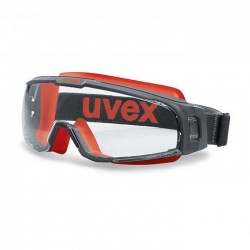 UVEX U-SONIC 9308-342 (Fire Goggle) (Top & Bottom Vent Reduced) (Prescription Capable)