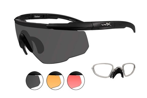 Wiley X Saber Advanced 309RX  (3 Lens Kit with Prescription RX Insert)