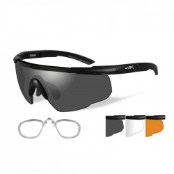 Wiley X Saber Advanced 308RX  (3 Lens Kit with Prescription RX Insert)